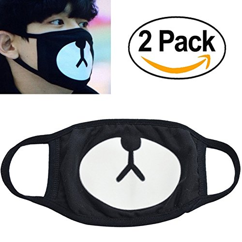 Veras Enrichment 2P Unisex Exo All Members Black Exo Kpop Mask  Bear Exo