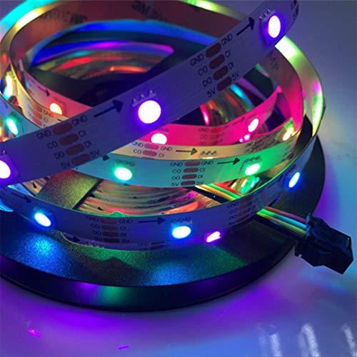 BGFHDSD APA102 Full Magic Color Addressable Led Strip Light 5M 30LED/M DC 5V IP20 LED Programmable LED Strips Project Lights Black PCB by BGFHDSD (Image #3)