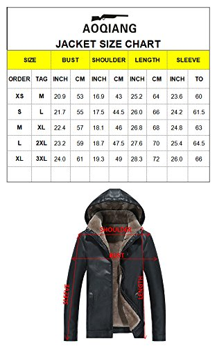 and PU Men XINISHI Motorcycle Unremovable Hood Winter Insulated Zipper Leather Fit Vintage for Down khaki Jacket Slim With qXwnfO8cX