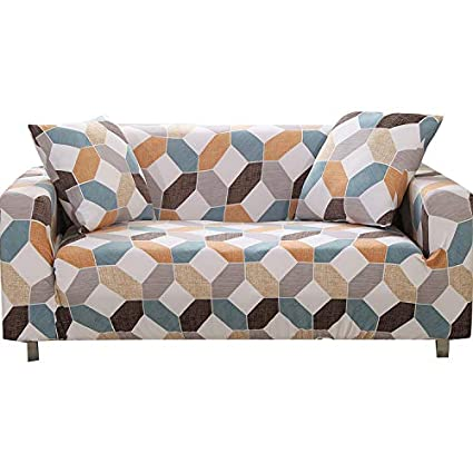 Amazon.com: FORCHEER Stretch Sofa Slipcover Printed Pattern 3-Seat ...