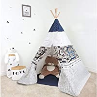 Arkmiido Teepee Tent for Kids, Play Tent for Boy Girl Indoor & Outdoor, Toddler Girls Boys Canvas Tipi Tents