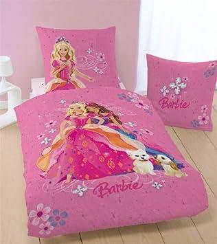 Barbie Bettwäsche The Diamond Flowers 135 X 200 Cm Amazonde Küche