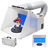Airbrush Hobby Paint Spray Booth Filter Fan w/ Hose