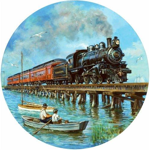 Puzzle 500 Teile Rails von by the Seashore 60018 von Rails SunsOut abb215