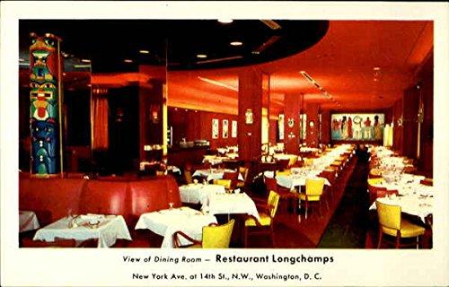 View of dining room -- Restaurant Longchamps Washington, District Of Columbia Original Vintage Postcard (Longchamp Vintage)