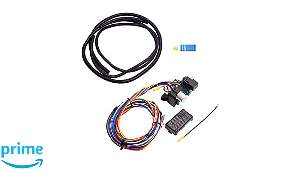 amazon com 12 circuit universal wiring harness muscle car hot rod Wiring Harness Terminals and Connectors