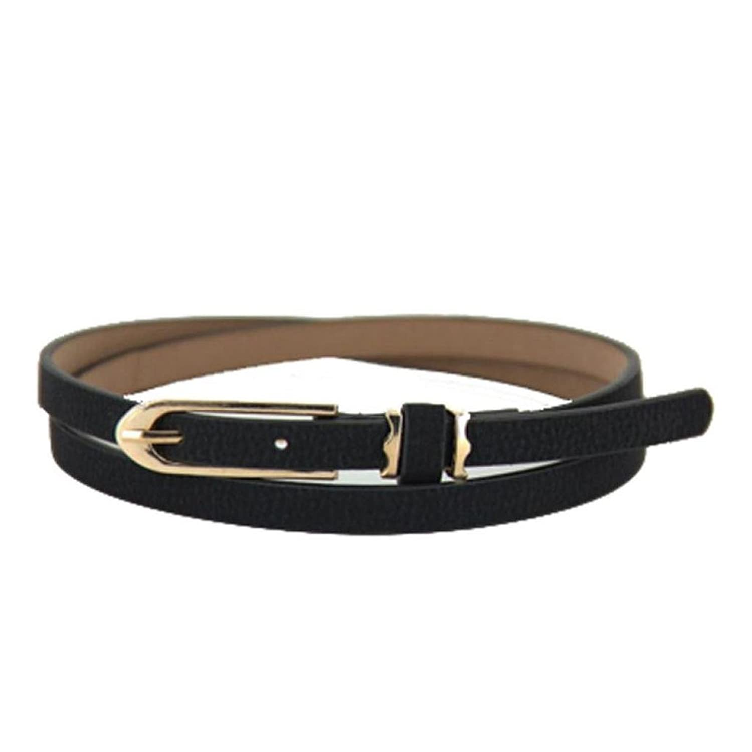 Franterd@ Lovely Women Candy Color Thin Skinny PU Leather Belt