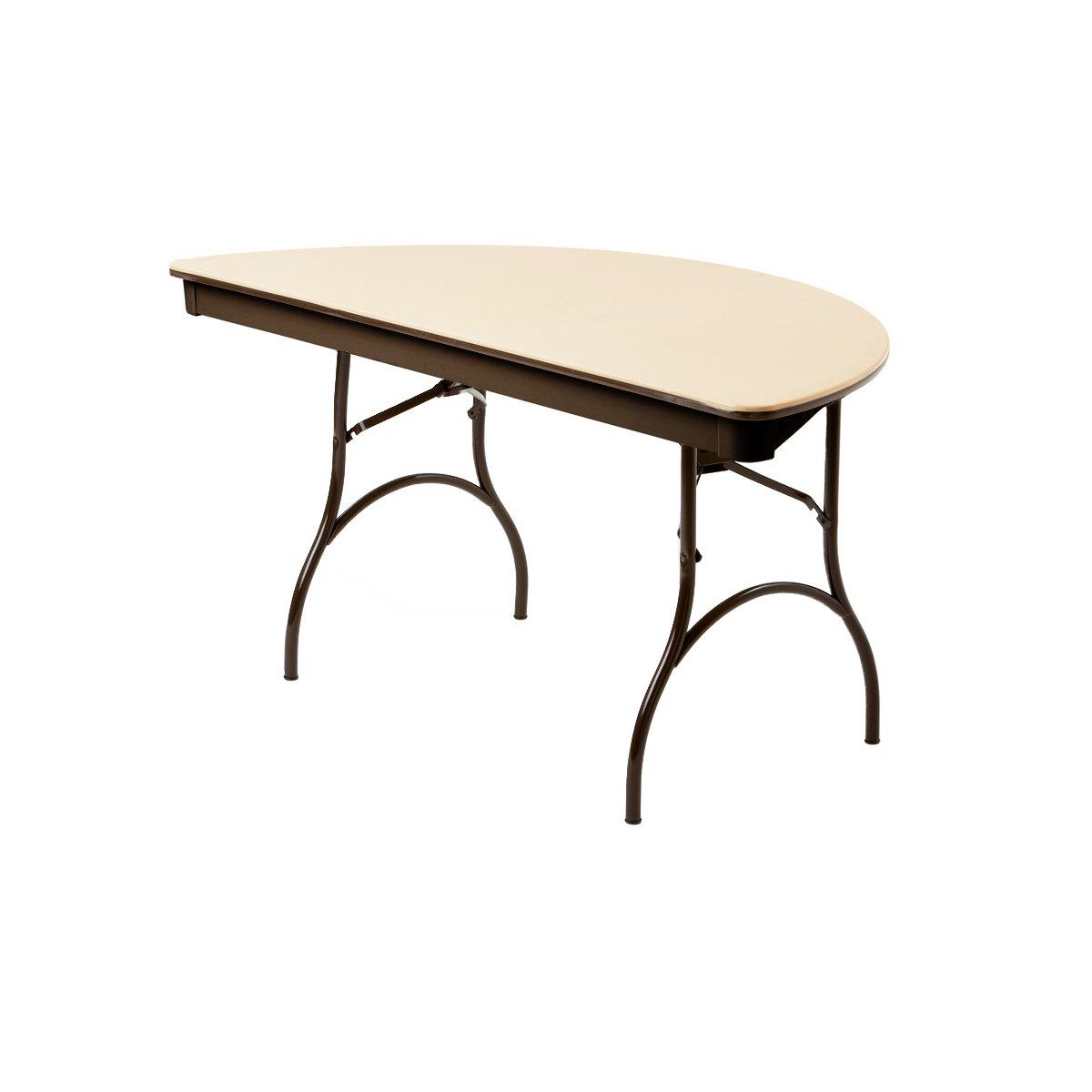 MityLite ABS Plastic 60'' Half Round Folding Table - Beige (Beige)