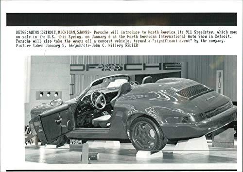 Speedster Motor Cars - Vintage photo of Motor Car: Porsche
