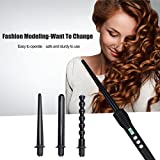 inkint 4 in 1 Interchangeable Hair Curling Irons Ceramic Curling Tools for Girls/ Women Temperature Control Hair Styling Curling Wands Kit with Different Shape of Curler Replacement (Health and Beauty)