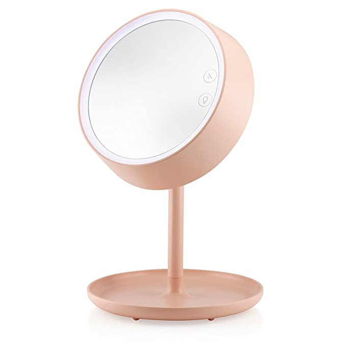 Oct17 Makeup Mirror Lighted Lamp Led Vanity Travel