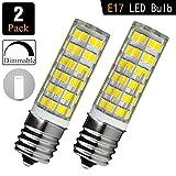 [2 pcs] Ceramic LED E17-6W Bulb for Kitchen Appliances, 75W 60W...