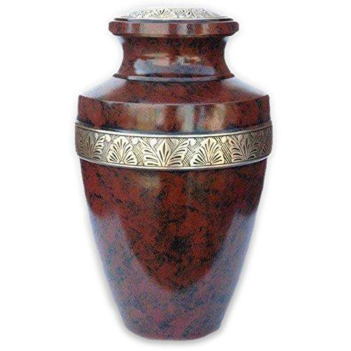 Beautiful Life Urns Hephaestus Adult Cremation Urn - Elegant Brass Funeral Urn (Military Keepsake)