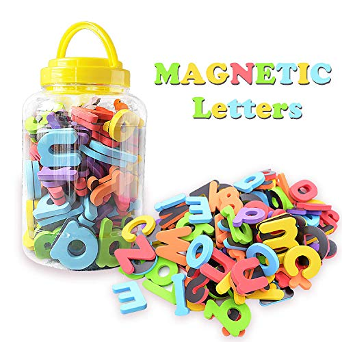 ABC Magnets for Kids Gift Set - 114 Magnetic Letters for Fridge, 26 Uppercase Letters, 78 Lowercase Letters and 10 Numbers - Alphabet Magnets for Refrigerator Fun! Alphabet Magnets Gift for Preschool
