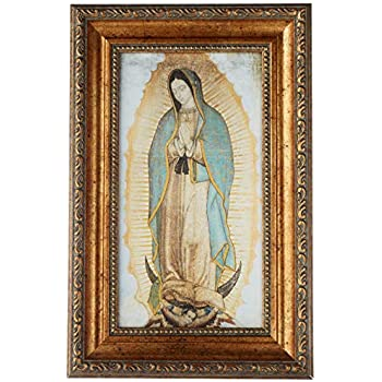 Amazon.com: Our Lady of Guadalupe Body Portrait, Gold Foil ...