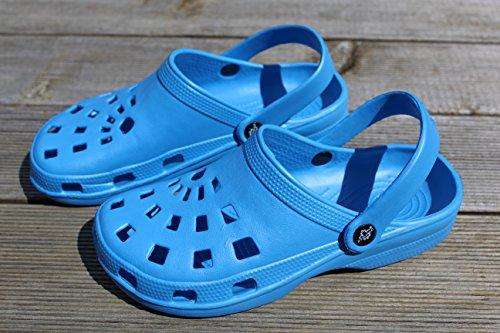 Jardim leves Tamancos Azul Chinelos 39 Relógios Chinelos Senhoras Super Badeschuhe Sapatos Gartenclogs Dinâmicas Borracha 1gaAAq