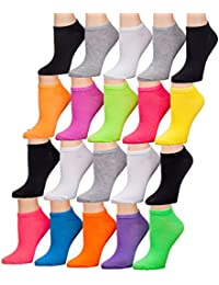 Tipi Toe Women's 20 Pairs Colorful Patterned Low Cut / No...