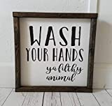 master bathroom pictures Wash your hands ya filthy animal, Farmhouse sign, rustic decor, fixer upper style, bathroom decor art, kid or master bathroom