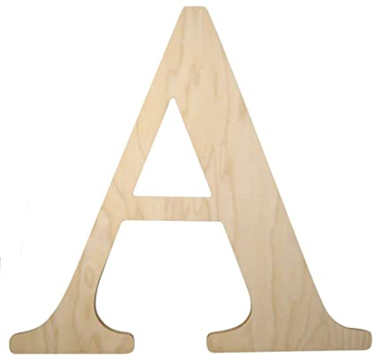 Amazon.com: Unfinished Wooden Letter for Wedding Guestbook or Wall