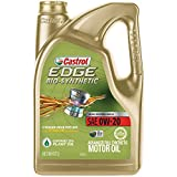 Automotive : Castrol 03585 EDGE Bio-Synthetic 0W-20 Advanced Full Synthetic Motor Oil, 5 quart, 1 Pack