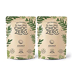 Well-Being-Matters 51zZ5cY256L._SS300_ ChocZero's Keto Bark, Milk Chocolate Coconuts, No Added Sugar, Low Carb, No Sugar Alcohols, Non-GMO (2 bags, 6 servings…