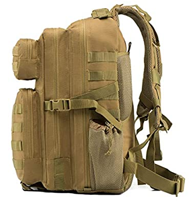 T1FE 1SFE 45L Military Tactical Backpack Molle Bag | Water-Proof Outdoor Traveling/Hiking/Hunting/Fishing Pack