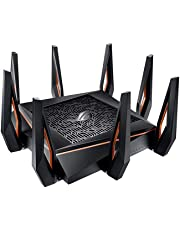$395 Get ASUS ROG Rapture GT-AX11000 AX11000 Tri-Band 10 Gigabit WiFi Router, Aiprotection Lifetime Security by Trend Micro, Aimesh Compatible for Mesh WIFI System, Next-Gen Wifi 6, Wireless 802.11Ax, 8 X Giga