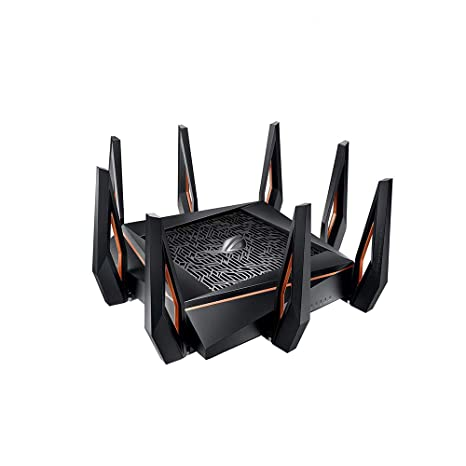 Asus ROG Rapture GT-AX11000 AX11000 Tri-Band 10 Gigabit WiFi Router,  Aiprotection Lifetime Security by Trend Micro, Aimesh Compatible for Mesh  WIFI
