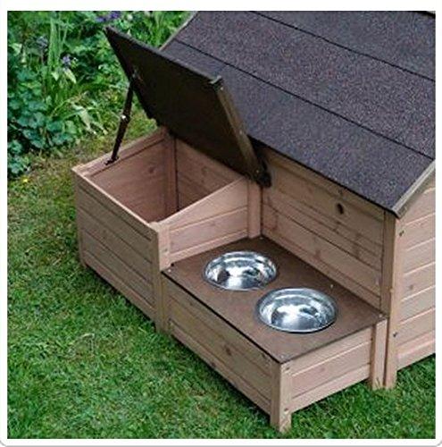 Lovely Sylvan comodidad FSC perro de la perrera - tamaño L - lujo - proporciona protección de los elementos - práctico y muy hermosa casa para su mascota: ...