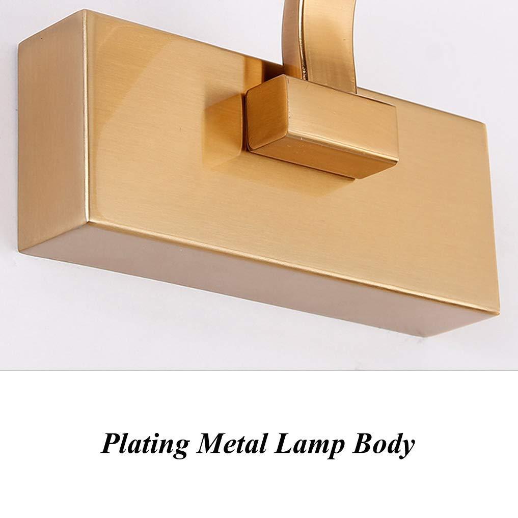 XFXDBT Badezimmer Schminklicht Led Wandleuchte,einfache Spiegel Frontlicht Einstellbar Winkel Bilderleuchte Wandleuchten neutrales Wei/ß 51cm-12w