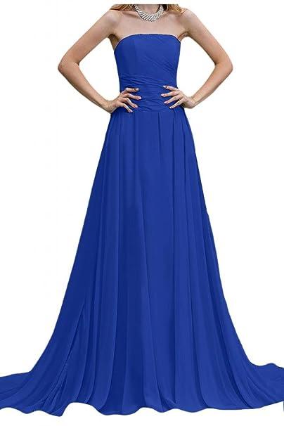 Por la noche vestidos de novia sin tirantes de la Toscana diseño de balón de la gasa de la dama de honor de largo vestidos Prom: Amazon.es: Ropa y ...