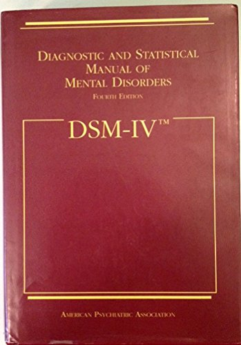 dsm-iv-diagnostic-and-statistical-manual-of-mental-disorders
