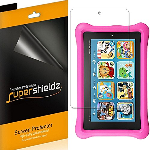 (3 Pack) Supershieldz for All New Fire 7 Kids Edition Tablet 7 inch (9th and 7th Generation, 2019 and 2017 Release) Screen Protector High Definition Clear Shield (PET)