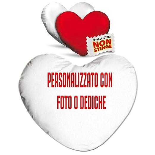 BrolloGroup cojín Corazón Personalizable Bicolor Blanco Rojo ...