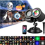 Double Projection, Halloween Christmas Led Projector Lights Outdoor Indoor with Remote Control for Parties Lawn Patio Yard Bedroom