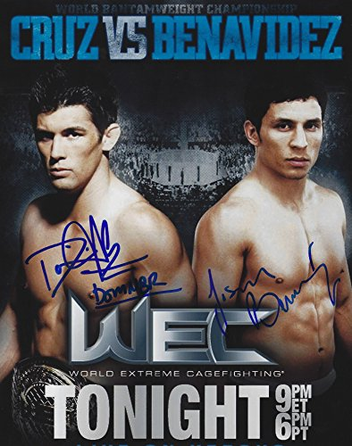Autographed Dominick Cruz & Joseph Benavidez UFC MMA 8x10 Photo w/ COA