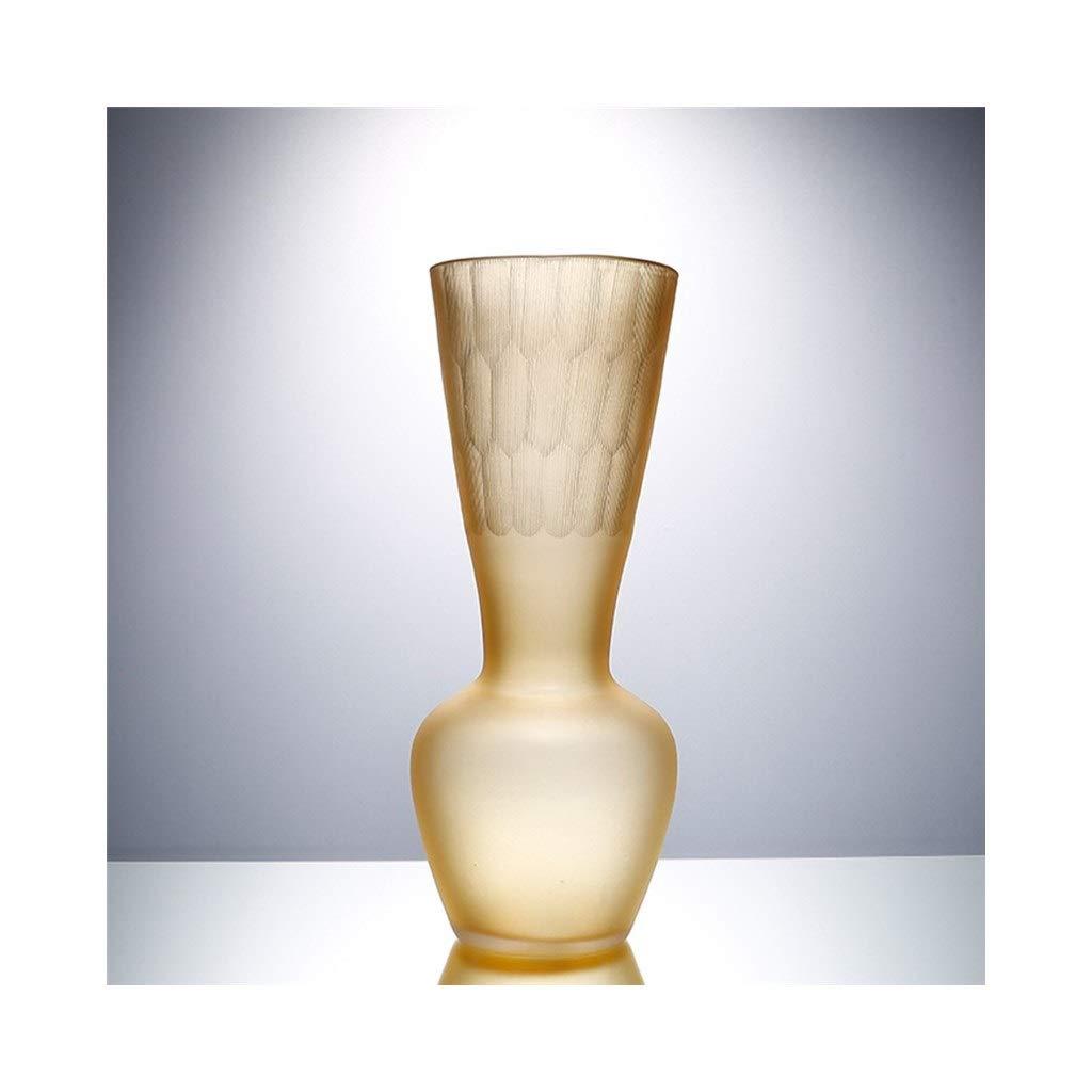 アンバーガラス花瓶手作りアートガラス花瓶現代のミニマリストスタイルフラワーアレンジメント容器家とオフィスデスクトップの装飾 (Size : 16cm*23cm) B07S9Y9PG9  16cm*23cm