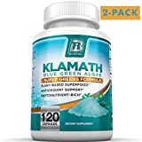 BRI Nutrition Klamath Blue Green Algae - More Effective Than Spirulina or Chlorella - Grown From The Clean Pure Source Of Klamath Lake, 500mg 2-Pack, 120 Count