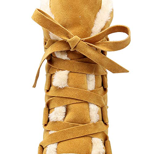 Herbst Rutschfeste Boots Winter Baumwoll Nackte Fashion Stiefel Baumwolle Plus Stiefel Kurze Stiefel Und Warme Wildleder Stiefel Yellow Stiefel Große Winter Flache Baumwoll Damenstiefel UE4wqEY