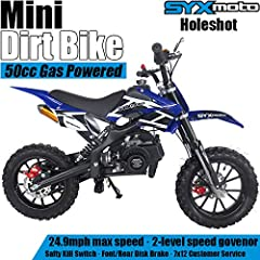 Gas off Road Bike is made to give your wild side a chance to roam. This bike comes with a 49cc engine that will soar through any road with ease. The Bike has rear suspension that provides a comfortable ride while racing through the unknown. A...