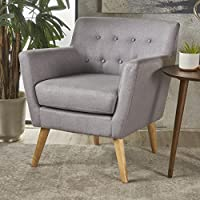 Christopher Knight Home 301449 Meena-CKH Arm Chair, Light Grey + Natural