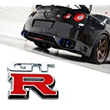 Deselen - LP-MO03 - Nissan GTR Car Logo Emblem Metal Stickers Decals Badge Labeling for Nissan Nismo GT-R, R32, R33, R34, R35, 370Z(Red)