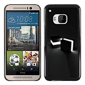 Paccase / SLIM PC / Aliminium Casa Carcasa Funda Case Cover para - Light Cubes - HTC One M9