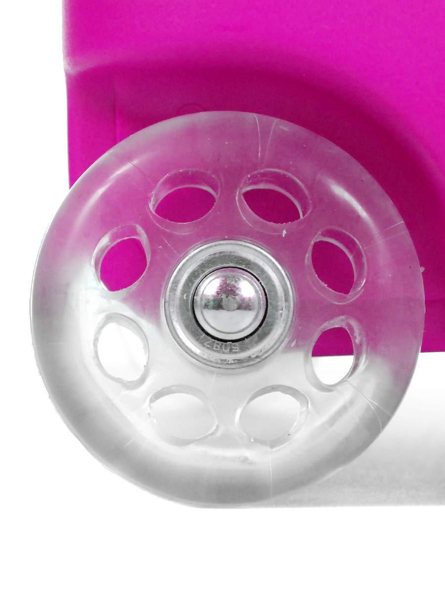L18 LIVAN/® Valise Cabine /à 2 Roues pour Enfant gar/çon et Fille Fleur Bleu 46X32X20cm Polycarbonate et Abs