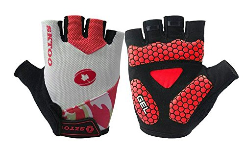 Bike Half Finger Glove Gym Fingerless Gloves Cycling Short Glove with Gel Pad Breathable Shock-absorbing for Men's or Women's Cycling ,Running, Hiking, Camping, Driving, and Sport Activities by Generic