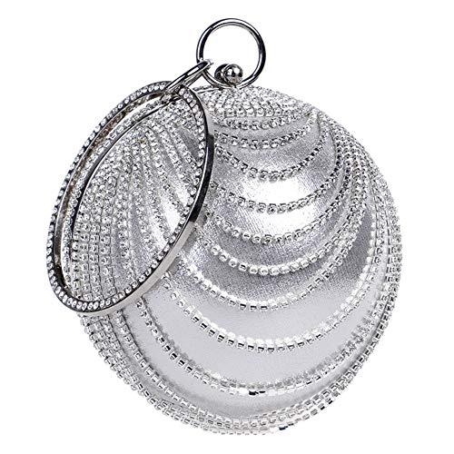 Clutches Bags Wedding Purse Handbags Chain Evening For Silver Dress Womens aqqtxO7In