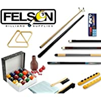 FELSON BILLIARD SUPPLIES, Accesorios de Billar, Kit de Accesorios de Billar (32 Unidades)