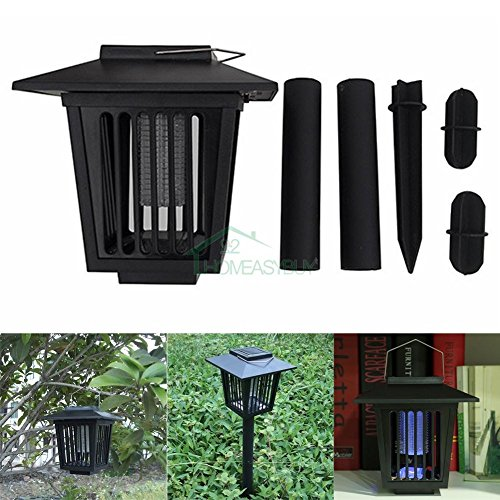 WALLER PAA LED Solar Powered Outdoor Mosquito Fly Bug Insect Zapper Killer Control - Walnut St Shopping