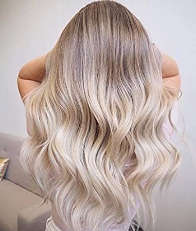 Ugeat 14Inch Balayage Ombre Ash Blonde to Light Blonde Micro Ring Hair  Extensions Human Hair 100