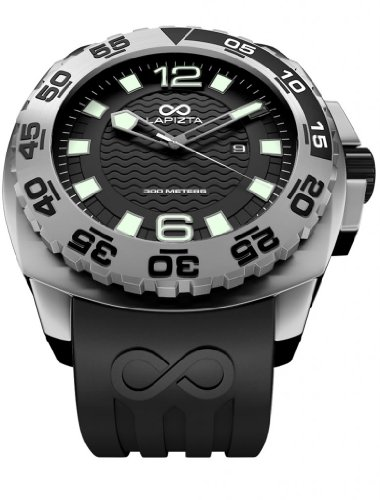 LAPIZTA Audax 300M Diver's Watch – 48mm Black, Stainless Steel L22.1402 by LAPIZTA